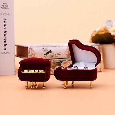 1Pc Pop  Piano Ring Box Earring Pendant Jewelry Treasure Gift Case Wedding
