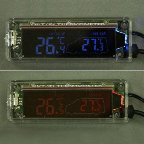 Transparent In and Out Car Thermometer New