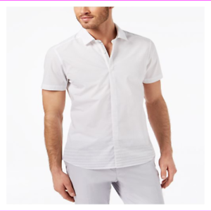 Ryan-Seacrest-Distinction-Men-039-s-Point-Collar-Stripes-At-Hem-Slim-Fit-Sport-Shirt