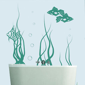 Image Is Loading Tropical Fish Wall Sticker Under The Sea Wall