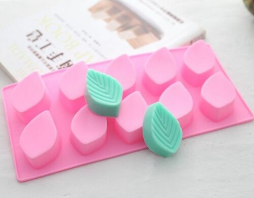 10-Leaf Soap Mould Cake Mold Flexible Silicone Resin Mold Chocolate DIY Tool
