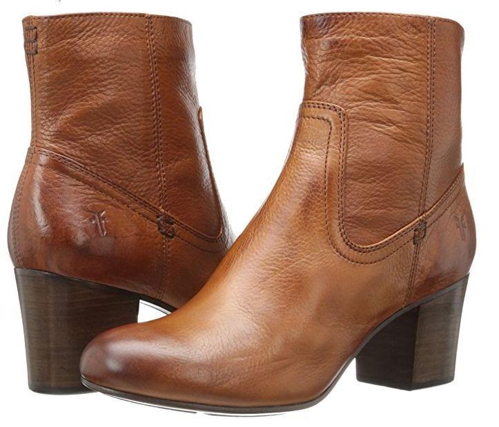 New in Box Frye Womens Stella Zip Short Whiskey Soft Vintage Leather 8 M 76468