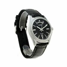 Casio Mtp1370l-1a Men's Black Dial Black Leather Band Steel Day Date 50m Watch