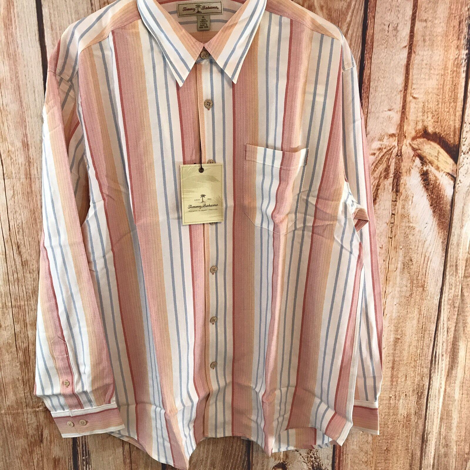 NWT Tommy Bahama Uomo's XL Kabuki Striped Button Down Shirt L2-11,  L2-11, Shirt 12 bf09c8