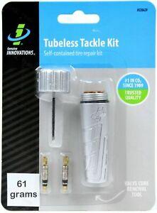 Genuine-Innovations-Tubeless-Tackle-Kit-MTB-Bike-Tire-Repair-2-Cores-amp-Bacon