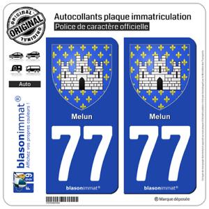 Armoiries77000 2 Blasonimmat plaque immatriculation77 Melun