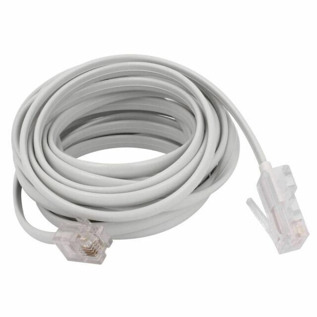 RJ11 6P4C to RJ45 8P4C Modular Phone Internet Extension Cable 3 Meter H3C2 1X