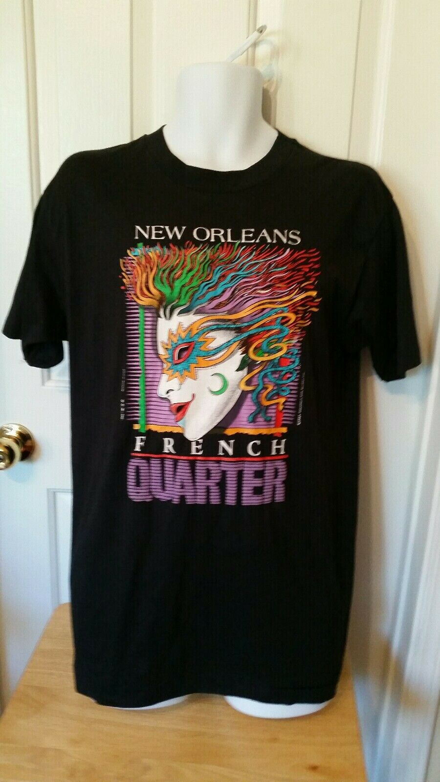 New Orleans French Quarter Single Stich Hanes Fifty-Fifty Made in USA Large
