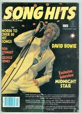 Song Hits February 1984 VG David Bowie, Kiss, Rod Stewart, Rush