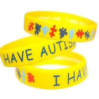 I Have Autism Wristbands Alert Medical Id Silicone Bracelet Emergency Jewel