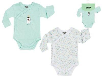 "Jacky Baby Wickelbodys  2er-Pack /"" Pinguin /"" unisex türkise Gr 50//56-86//92"