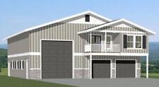 44x48 Apartment with 2-Car 1-RV Garage - PDF FloorPlan - 1,645 sqft - Model 1F
