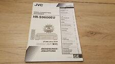 Originale JVC Istruzioni d'uso per HR-S9600 12 Mesi Di Garanzia