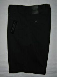 Mens-Shorts-Bloomingdales-NWT-Twill-Regular-Fit-Flat-Front-Navy-Size-33-X-9-5-034