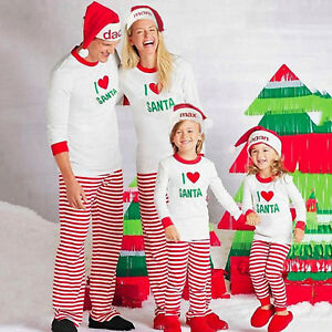 Kids Christmas Pajamas.Details About Family Matching Christmas Pajamas Adults Women Kids Xmas Pjs Nightwear Suit Set