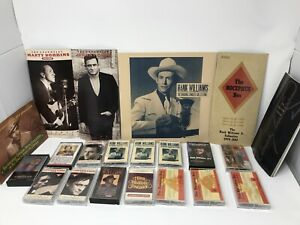 Lot-Of-Country-Cassettes-amp-Booklets-Johnny-Cash-Hank-Williams-Waylon-Willie-Jr