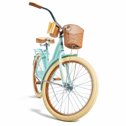 "Huffy 24/"" Nel Lusso Girls/' Cruiser Bike with Perfect Fit Frame Mint Green"