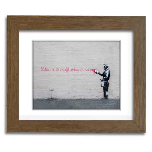 Street Art professionally Framed art Banksy Echos in Eternity Landscape