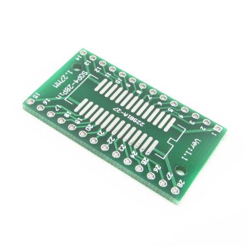 10PCS SO28 SOP28 SSOP28 TSSOP28 SOIC28 DIP28 Adapter Konverter PCB Tafel BAF