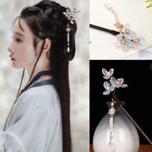 Vintage-Headdress-Wooden-Hair-Sticks-Handmade-Flower-Hairpin-Hair-Clip-Jewelry