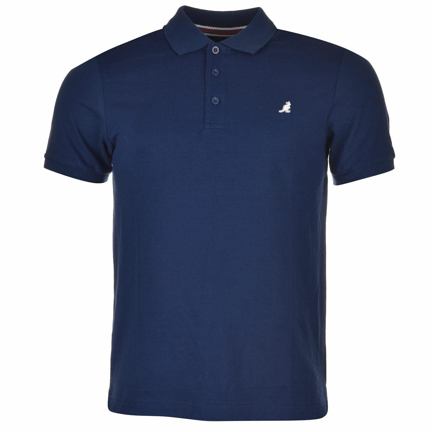 Kangol Brit Fit Polo Shirt Mens Navy Collared T-Shirt Top Tee