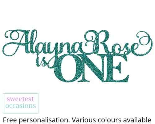 any age Birthday Cake Topper Personalised Custom 1st 2nd 3rd 4th
