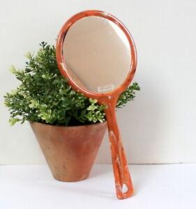 Grand miroir face à main vintage 70'