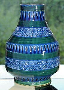 Vase-German-pottery-60er-60s-70er-70s-Fat-Lava-Keramik-Danish-Teak-Midcentury