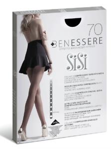 SISI Collant Massaggiante BENESSERE 70 den 813si Calza Sanitaria Certificata CE