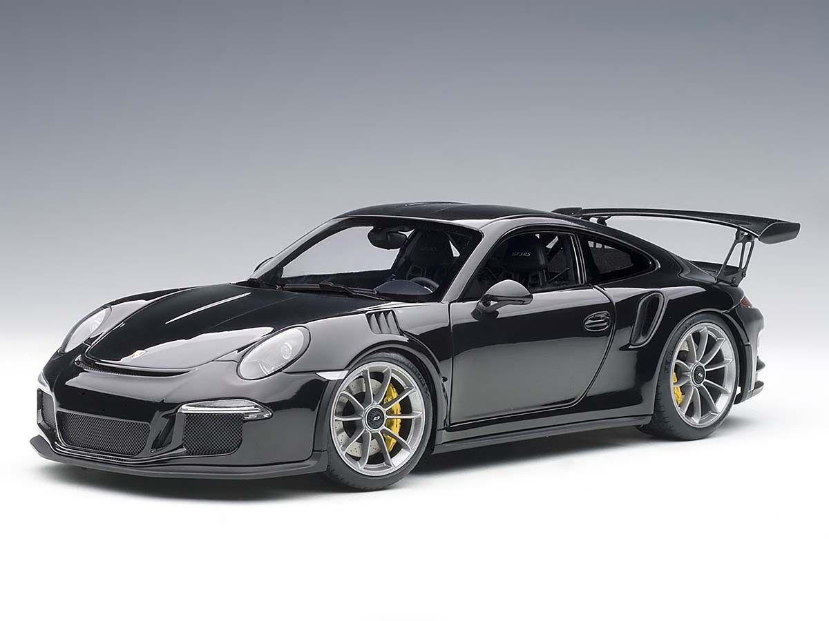 PORSCHE 911 CARRERA GT3 RS (991) noir brillant argent Roues 1 18 AutoArt 78164