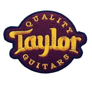 taylor guitar logo jacket hat t t shirt iron on patches ebay. Black Bedroom Furniture Sets. Home Design Ideas