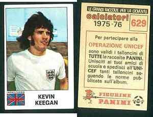 Kevin-039-Keegan-039-Inghilterra-1975-CALCIO-EDIZIONI-Panini-MINT