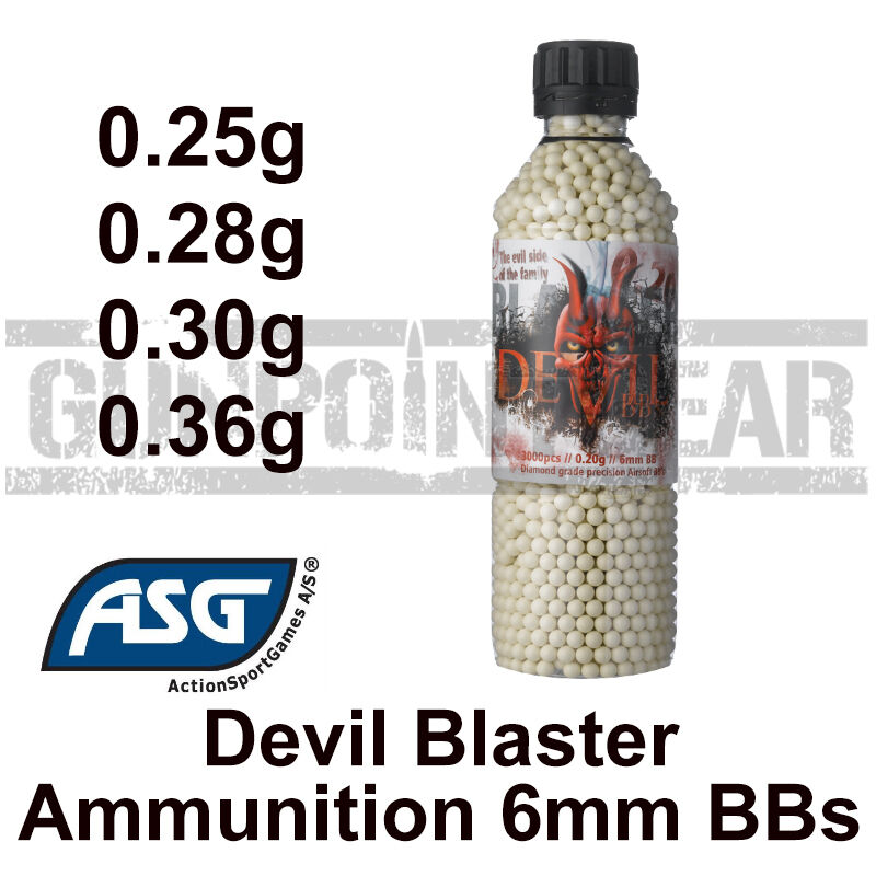 ASG Blaster Devil 6mm Airsoft BB Accurate Airsoft 0.25, 0.28, 0.30 & 0.36g BB's
