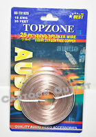 25 Ft Speaker Wire 18 Awg Clear Oxygen Free Copper Quality Audio Video Accessory