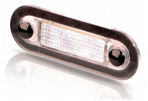 HELLA MARINE LED Akzentleuchte Multivolt 10-33V Transparent+warm weißes Licht !!
