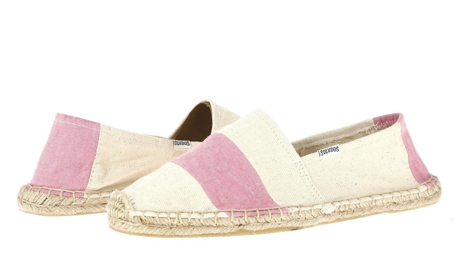 Damenschuhe SOLUDOS 225636 ivory / pink canvas espadrilles schuhe sz. 10