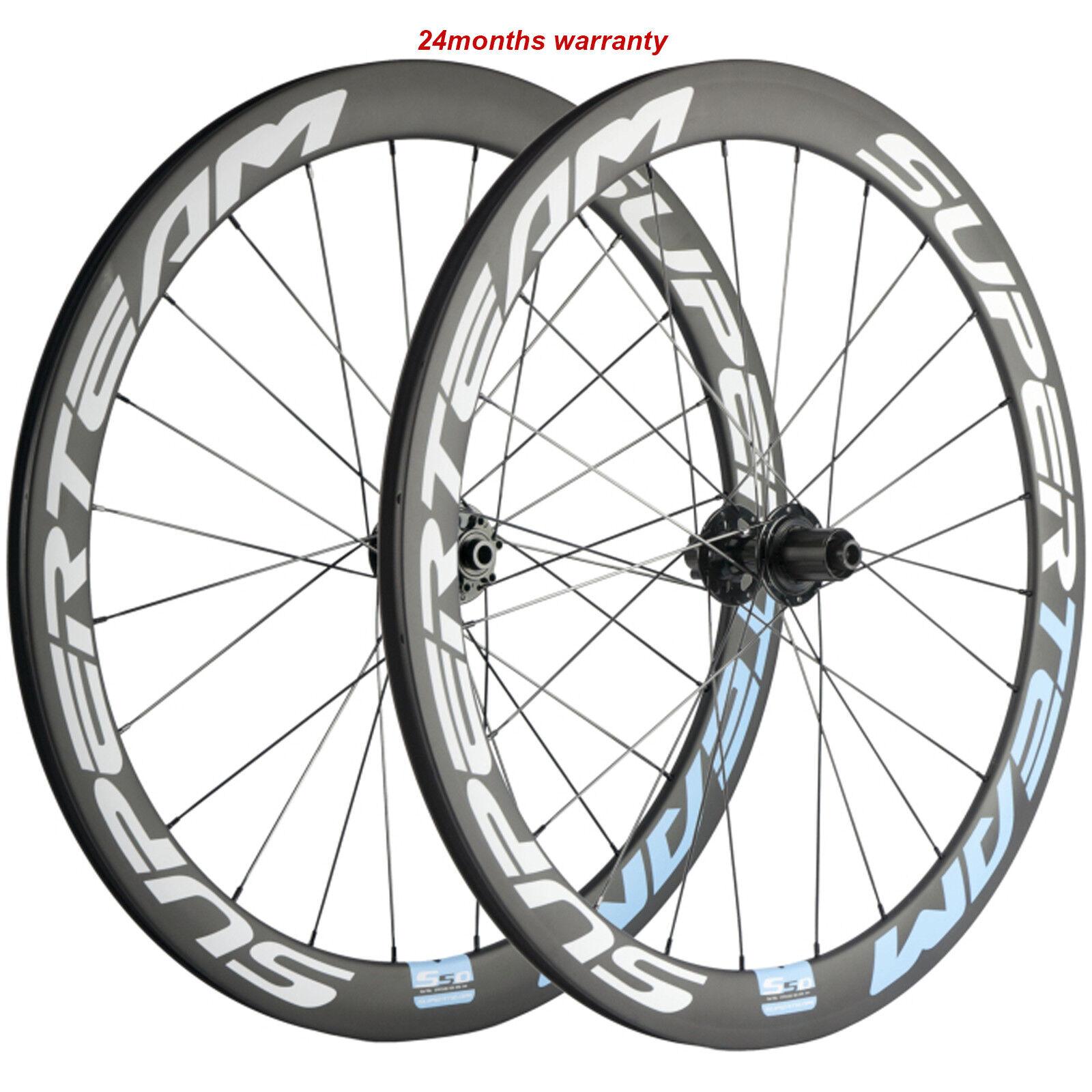 Disc Brake Carbon Wheelset 50mm Disc Brake Road Bike Wheelset 700C QR Thru Axle
