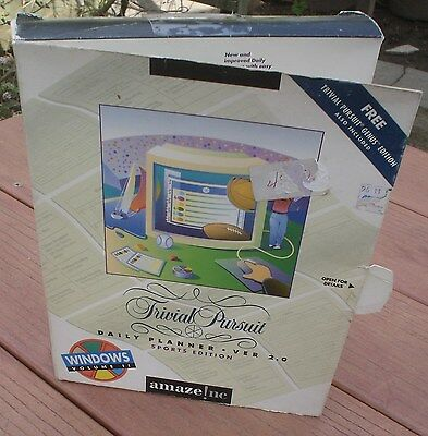 "New Trivial Pursuit Daily Planner Version 2.0 Sports Edition Windows 3.5"" Disket"