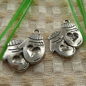free ship 24 pieces tibetan silver moon charms 20mm #4238