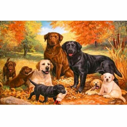 5D DIY Full Drill Diamond Painting Dog Embroidery Cross Stitch Home Decor Craft