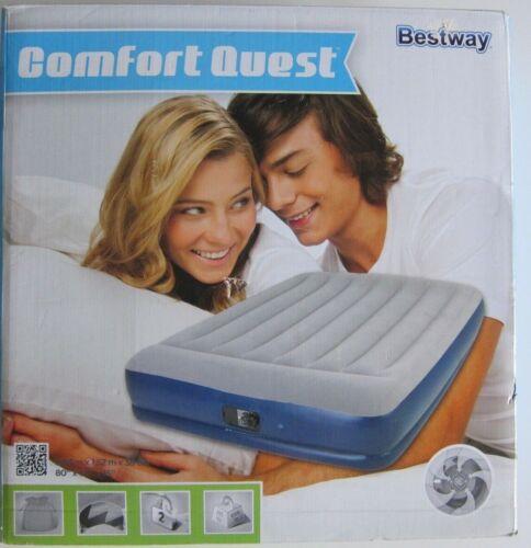 Bestway-Luftbett-Gästebett-NEU-eingebaute Pumpe-2,03 m x 1 52 m x 38cm
