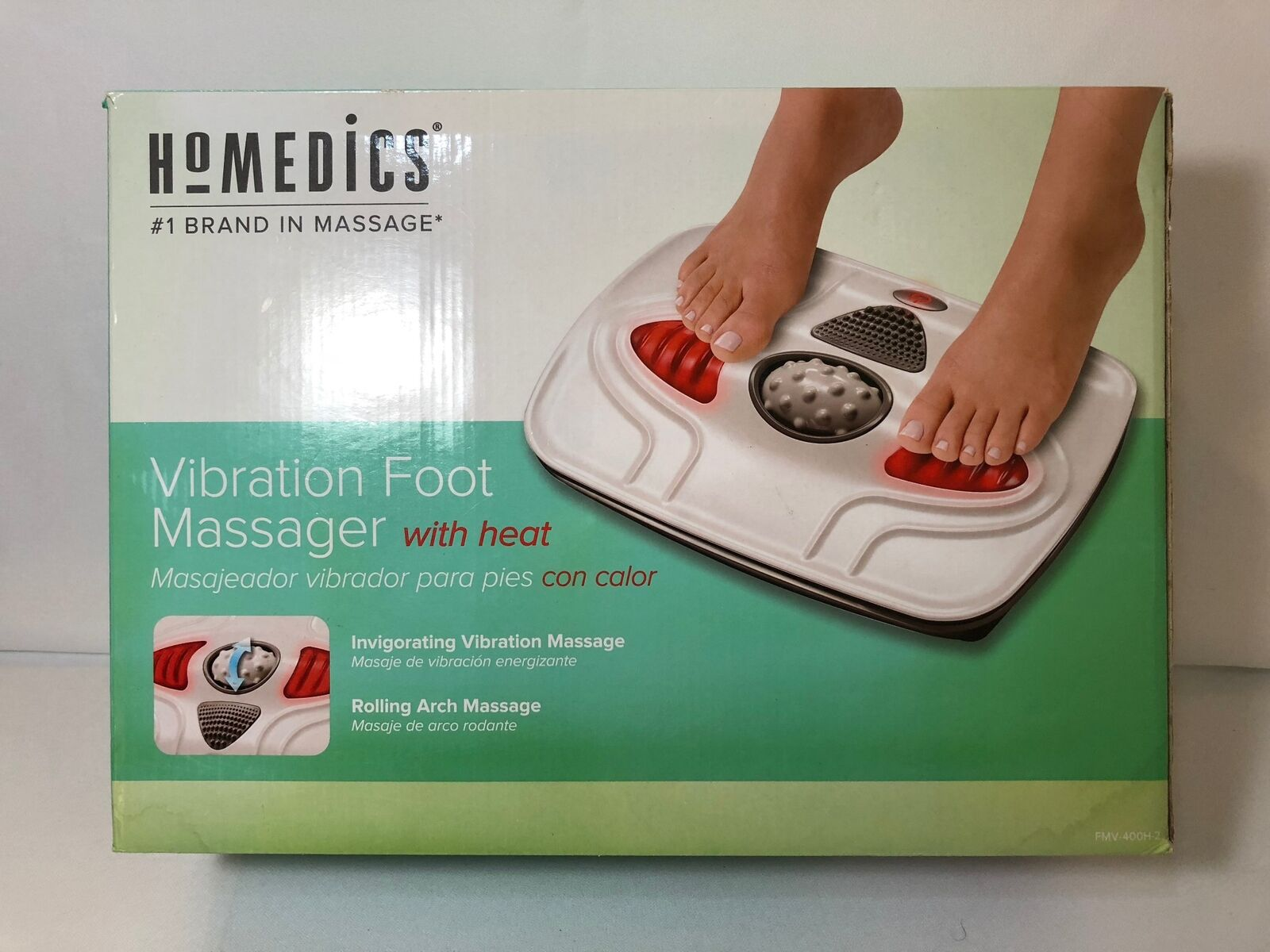 Vibration In Foot >> Homedics Vibration Foot Massager With Heat Fmv 400 H 2