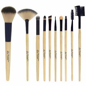 fantasea professional bamboo cosmetic brush set  10pc