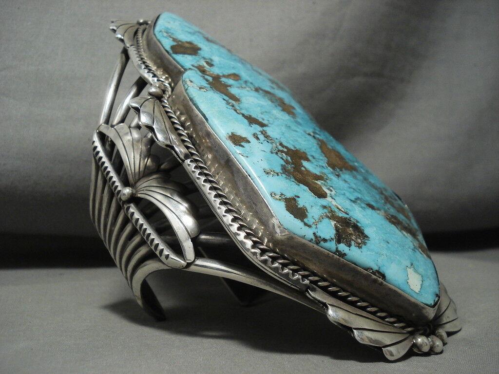 Il Migliore e Biggest Vintage Navajo Turchese argentoo argentoo argentoo Bracciale On The Internet 7a4b08