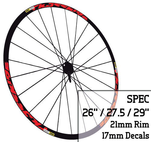 Mavic CROSSRIDE style Bicycle Wheel Rim Decals Stickers MTB 26 27.5 29 INCH