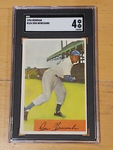 1954 Bowman #154 Don Newcombe SGC 4 New Label Graded