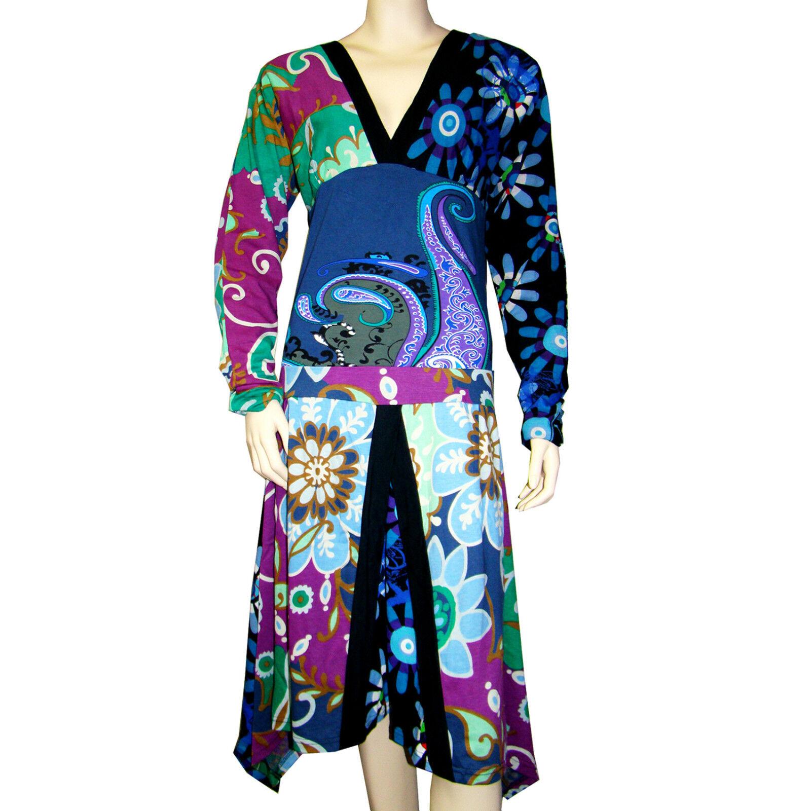 DESIGUAL robe VEST UNA FLOR dress Größe S  36-38 FR