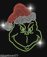 The Grinch Rhinestone Iron On Transfer Christmas Bling Applique