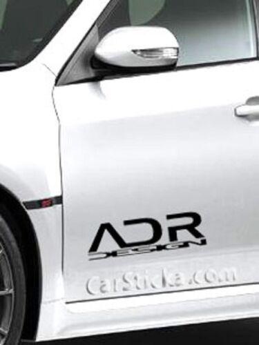 "2 of 8/"" ADR Design performance car truck bumper vinyl sticker decal die cut"