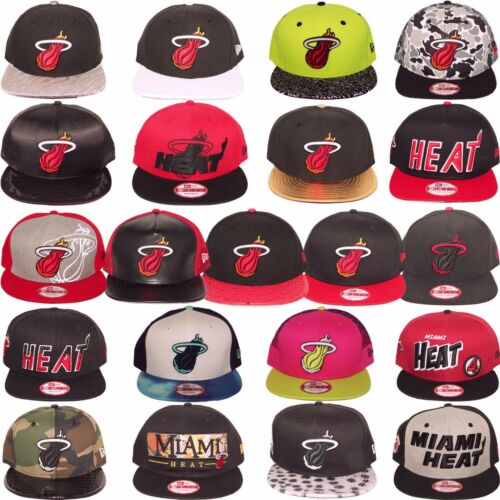 New Era MIAMI HEAT NBA Snapback Strapback Baseball Hat Cap Many Styles One Size
